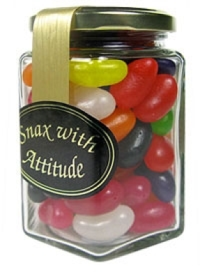 Jar of colourful Jellybeans